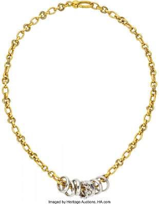 11013: Diamond, Gold Necklace, Pomellato  The 18k white