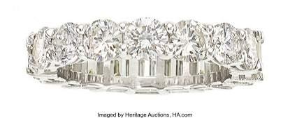 11062: Diamond, Platinum Eternity Band  The eternity ba