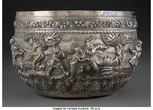 78254: A Southeast Asian Silver Repoussé Bowl 6