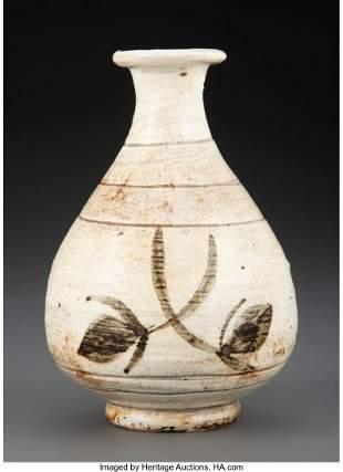 78341: A Korean Glazed Porcelain Vase 6 x 4-1/8 inches