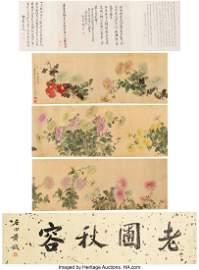 78201: After Lu Zhi (Chinese, 1496-1575) Chrysanthemums
