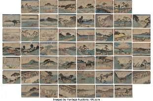 78306: Utagawa Hiroshige I (Japanese, 1797-1858) Compri