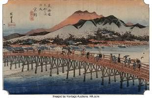 78308: Utagawa Hiroshige I (Japanese, 1797-1858) Fifty-