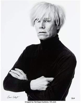40082: Andrew Unangst (b. 1950) Portrait of Andy Warhol