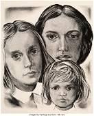 40076: Wayne Thiebaud (b. 1920) Three Generations of Wo