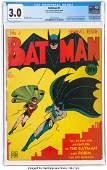 92002: Batman #1 (DC, 1940) CGC GD/VG 3.0 Cream to off-