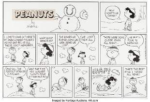 94169: Charles Schulz Peanuts Sunday Comic Strip Origin