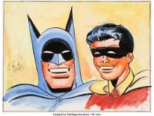 94089: Bob Kane - Batman and Robin Watercolor Original