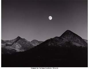73001: Ansel Adams (American, 1902-1984) Moonrise from