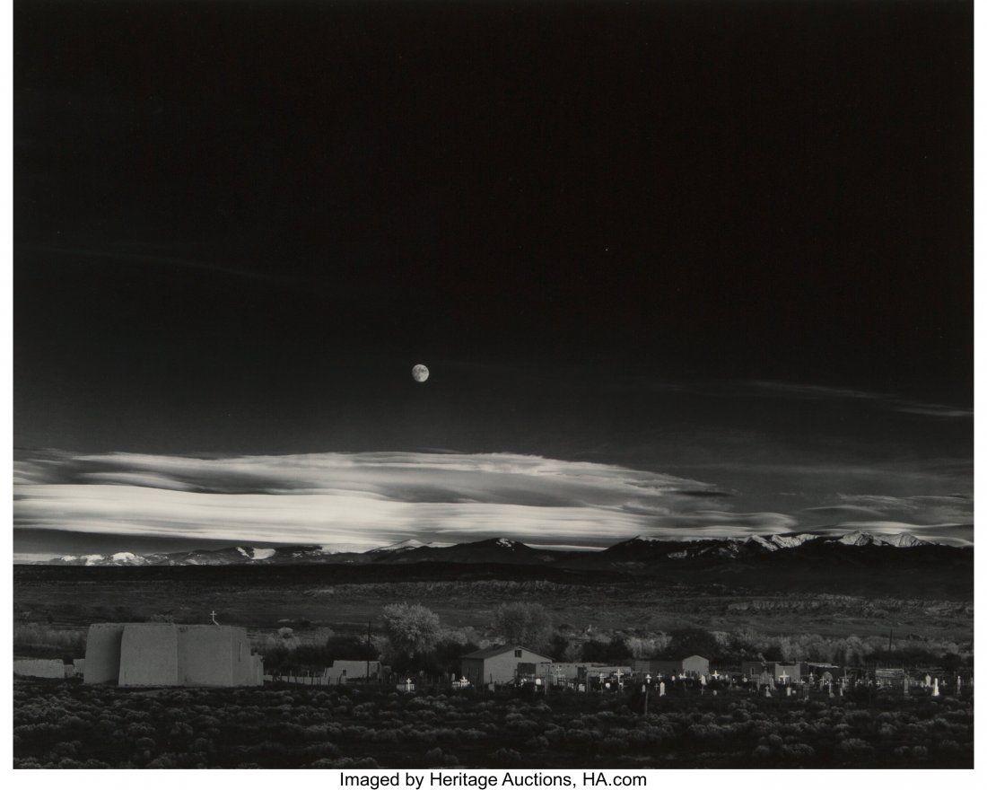 73014: Ansel Adams (American, 1902-1984) Moonrise, Hern