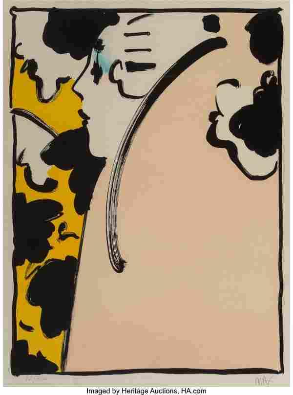 Peter Max (American, b. 1937) Peach Lady, 1970 L