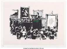65006: Banksy (b. 1974) Morons, 2006 Screenprint in col