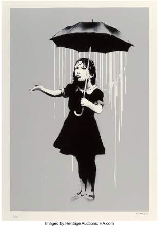 65007: Banksy (b. 1974) NOLA (White Rain), 2008 Screenp