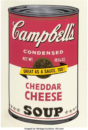 65073: Andy Warhol (1928-1987) Cheddar Cheese, from Cam