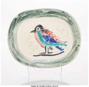 65056: Pablo Picasso (1881-1973) Oiseau polychrome, 194