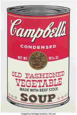 Andy Warhol (1928-1987) Old Fashioned Vegetable,