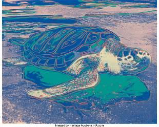 65077: Andy Warhol (1928-1987) Turtle, 1985 Screenprint