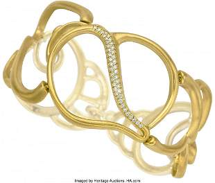 55003: Diamond, Gold Bracelet, Angela Cummings  Stones: