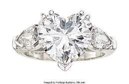 55088: Diamond, Platinum Ring, GIA Type IIa  Stones: He