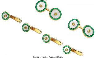 55102: Colored Diamond, Mother-of-Pearl, Enamel, Gold D
