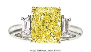 55200: Fancy Intense Yellow Diamond, Diamond, White Gol