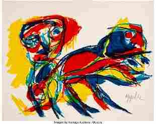 41003: Karel Appel (1921-2006) Figure et Animal, 1962 L