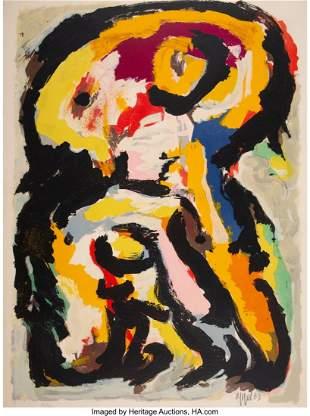 41005: Karel Appel (1921-2006) Personnage, 1963 Lithogr