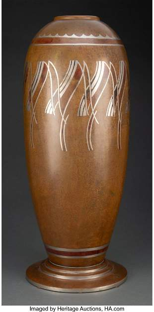 79376: Large F.J. Forshaw Dinanderie Vase, circa 1930 M