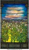 79041: Tiffany Studios Leaded Glass Lily Window, circa