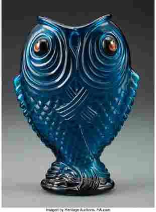 79083: Émile Gallé Glass Poissons Siamois Vase Executed