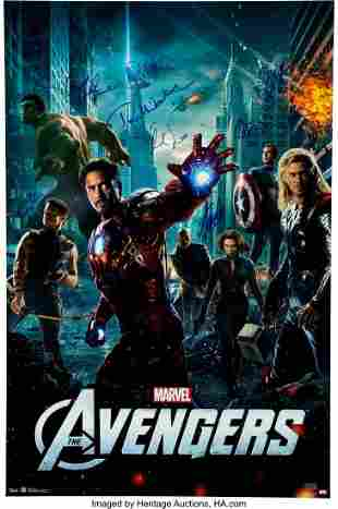 89003: The Avengers 8 Cast Members and Stan Lee Signed
