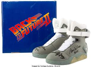 89004: Back to the Future Part II Shoes Signed by Four