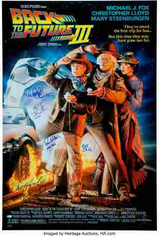 89006: Back to the Future Part III Cast Signed Movie Po