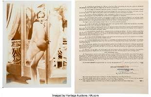 89022: Marlene Dietrich Signed Contract With Management
