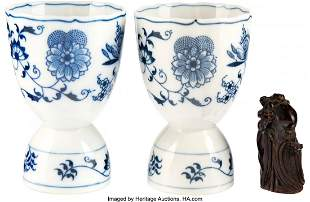 89023: Marlene Dietrich Owned Porcelain Egg Cups (2) an