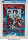 """89213: Grateful Dead 1966 """"Skeleton & Roses"""" Concert Po"""