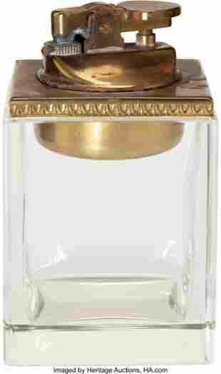 89024: Marlene Dietrich Owned Glass Cigarette Lighter.
