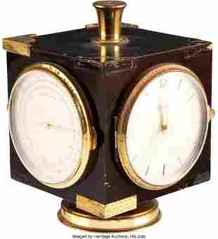 89026: Marlene Dietrich Owned Rotating Desktop Timepiec