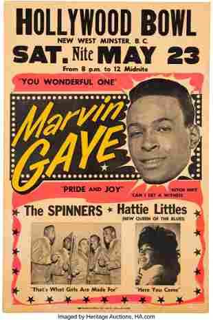 89218: Marvin Gaye 1964 Vancouver, B.C. Concert Poster