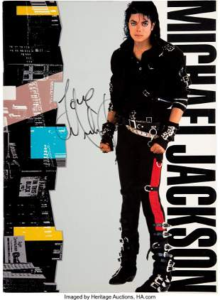 89443: Michael Jackson Signed and Inscribed Bad Program