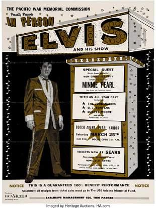 89327: Elvis Presley 1961 Bloch Arena, Pearl Harbor HI