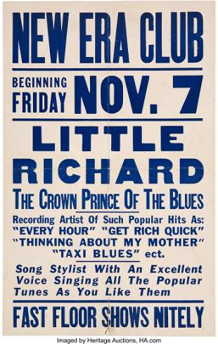 """89244: Little Richard 1952 """"Crown Prince of the Blues"""""""