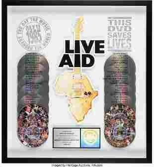 89373: Live Aid DVD Box Set RIAA Hologram Multi-Platinu