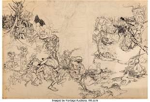71001: Arthur Rackham (British, 1867-1939) Fantasy Scen