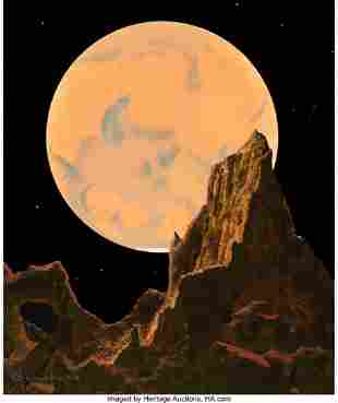 71084: Chesley Bonestell (American, 1888-1986) Mars as