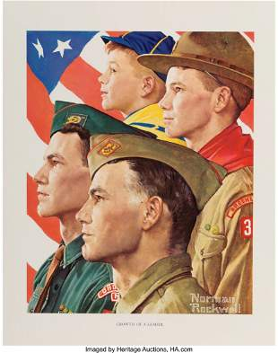 71431: Norman Rockwell (American, 1894-1978) Scouting T
