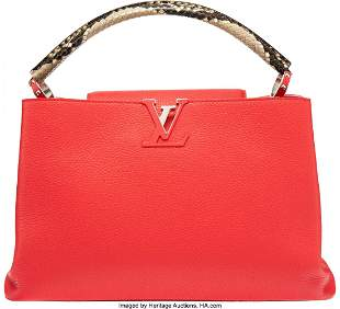 58168: Louis Vuitton Python & Poppy Taurillon Leather C