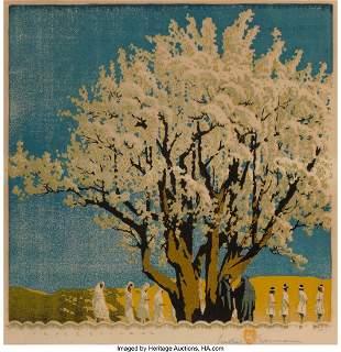67002: Gustave Baumann (American, 1881-1971) Procession