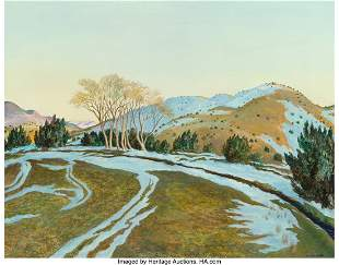 67005: Peter Hurd (American, 1904-1984) Winter Tracks A
