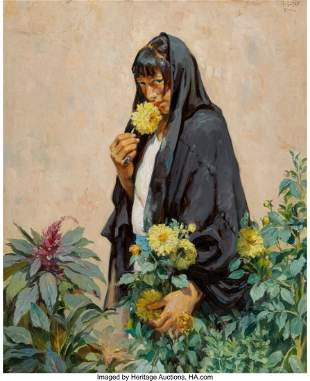 67012: Mathias Joseph Alten (American, 1871-1938) Taos